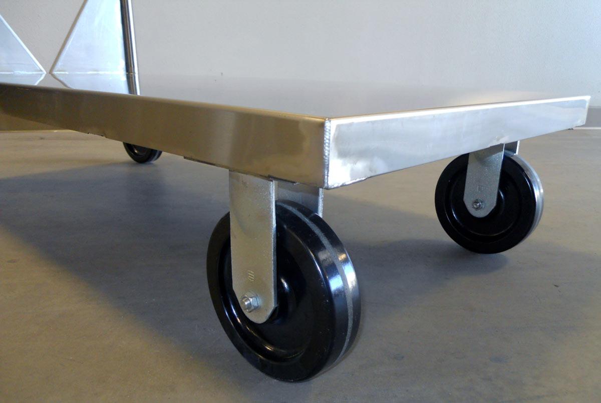 Elite Series Stainless Steel Flat Bed Utility Cart Ela